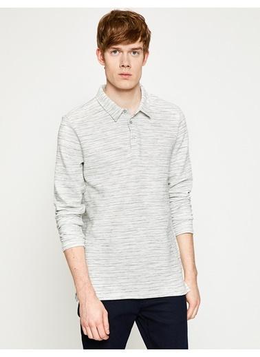 Koton Polo Yaka Sweatshirt Gri